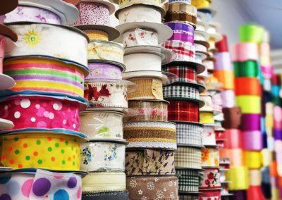 Textil Dúha - množstvo rôznych stúh
