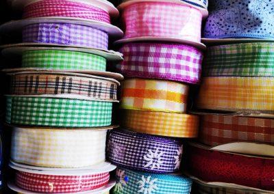 Textil Dúha - bavlnené stuhy