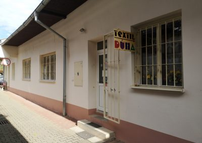 Predajňa Textil Dúha - pohľad zvonka